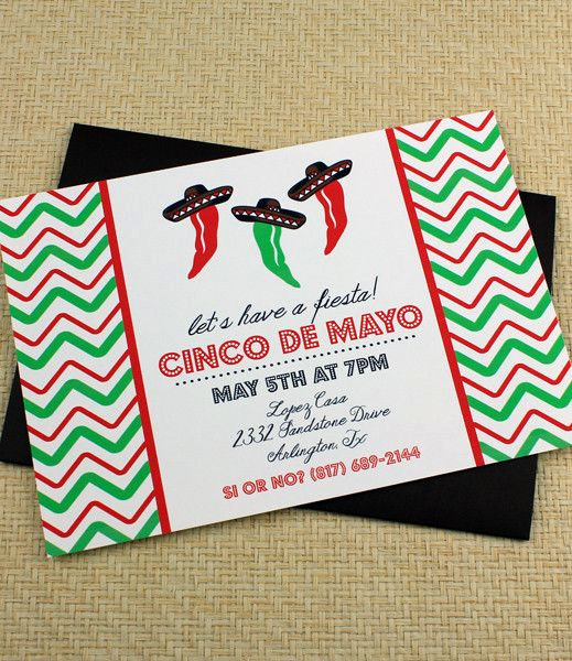 Cinco De Mayo Invitation Template New Cinco De Mayo Invitation Template Dancing Jalapeno