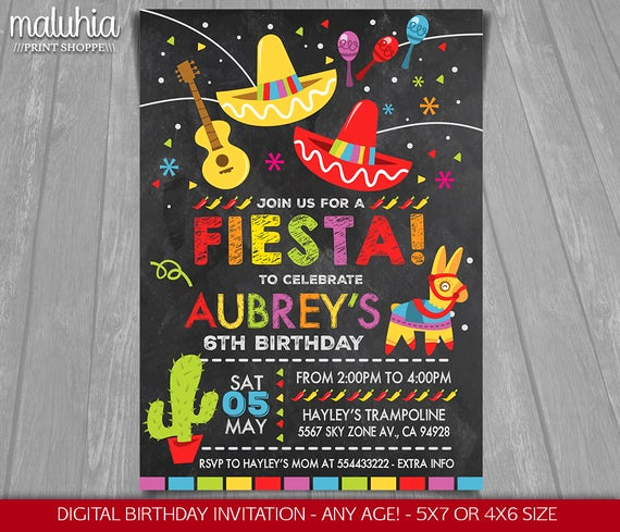 Cinco De Mayo Invitation Wording Awesome Fiesta Birthday Invitation Cinco De Mayo Invitation