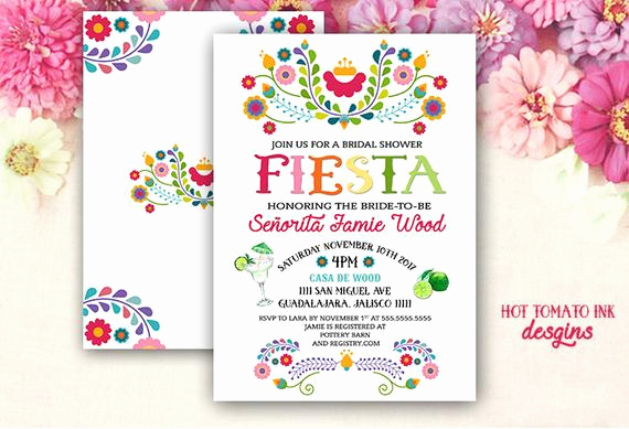 Cinco De Mayo Invitation Wording Beautiful Fiesta Invitation Fiesta Bridal Shower Invitation Cinco De