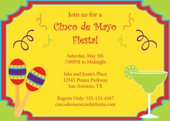 Cinco De Mayo Invitation Wording Elegant Cinco De Mayo Invitation Printable Diy by Cowprintdesigns