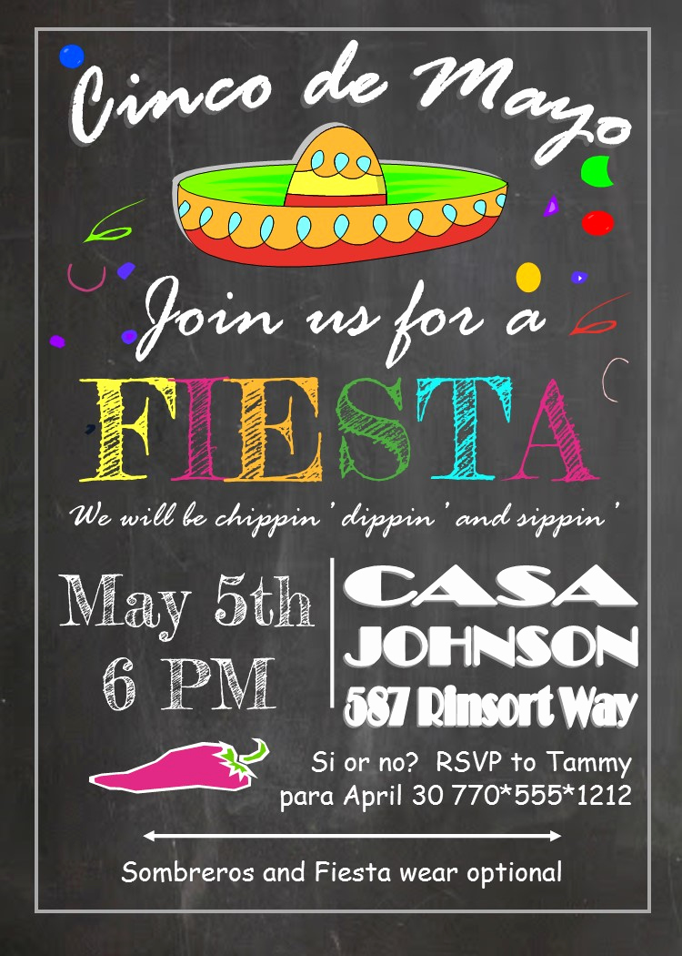 Cinco De Mayo Invitation Wording Fresh Cinco De Mayo Party Invitations New for May 5 2018