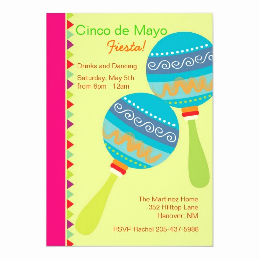 Cinco De Mayo Invitation Wording Inspirational Cinco De Mayo Mariachi Invitations