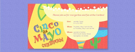 Cinco De Mayo Invitation Wording Lovely Cinco De Mayo Evite