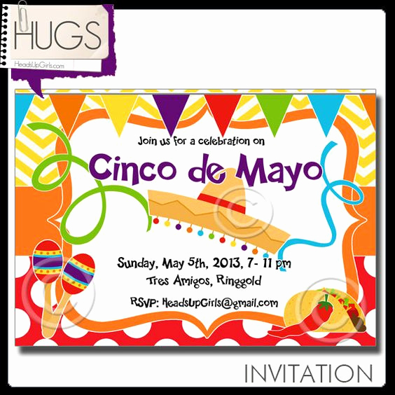 Cinco De Mayo Invitation Wording Lovely Personalized Digital Printable Cinco De Mayo Party