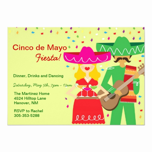 Cinco De Mayo Invitation Wording Luxury Cinco De Mayo Mariachi Invitations
