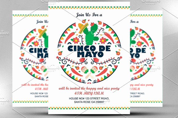 Cinco De Mayo Invitation Wording New Cinco De Mayo Invitation Invitation Templates On