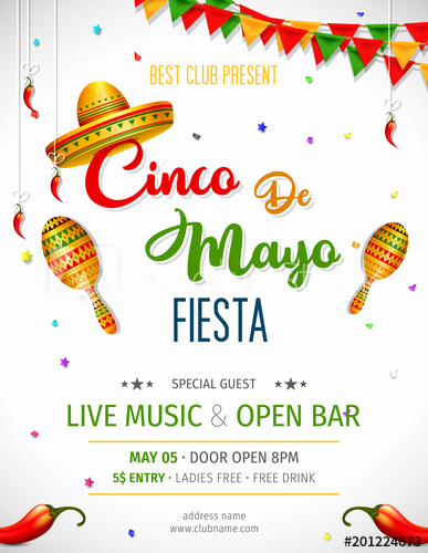 Cinco De Mayo Invitation Wording Unique Cinco De Mayo Invitation Design for Celebration Of the
