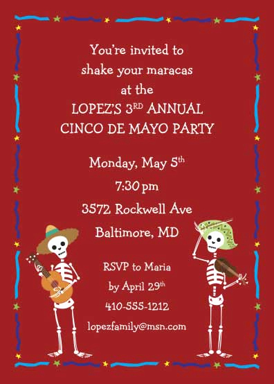 Cinco De Mayo Invitation Wording Unique Cinco De Mayo Invitation
