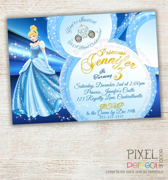Cinderella Invitation Template Free Awesome Items Similar to Cinderella Invitation Cinderella