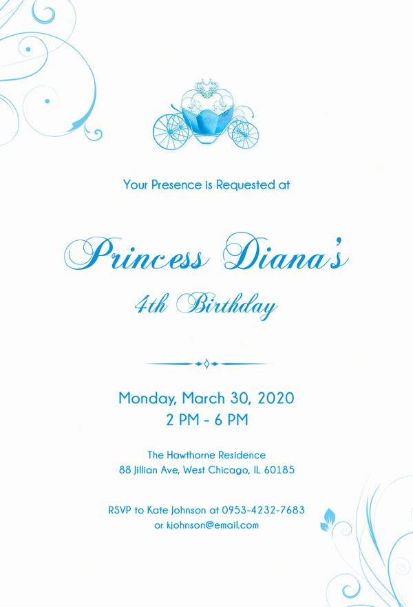 Cinderella Invitation Template Free Beautiful 12 Amazing Cinderella Invitation Templates & Designs
