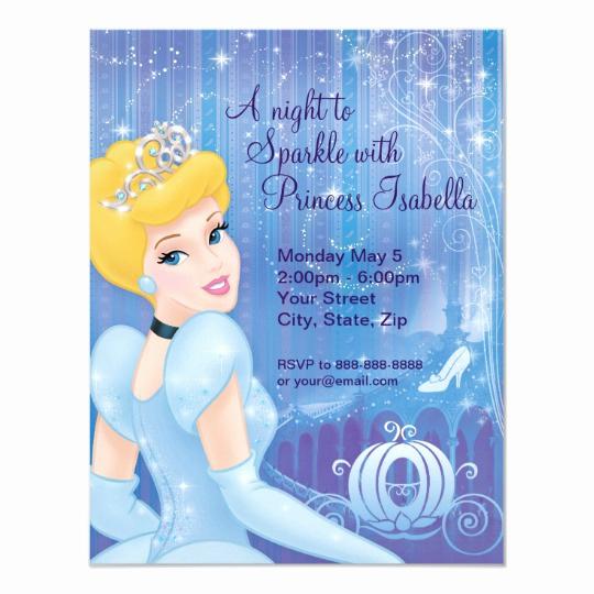 Cinderella Invitation Template Free Beautiful Cinderella Birthday Invitation