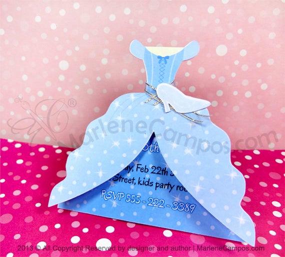 Cinderella Invitation Template Free Beautiful Cinderella Invitation Inspired Cinderella Dress Printable
