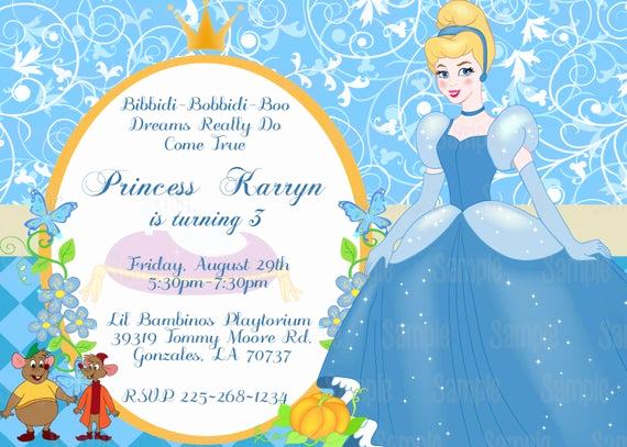 Cinderella Invitation Template Free Best Of Printable Cinderella Birthday Party Invitation Plus Free Blank