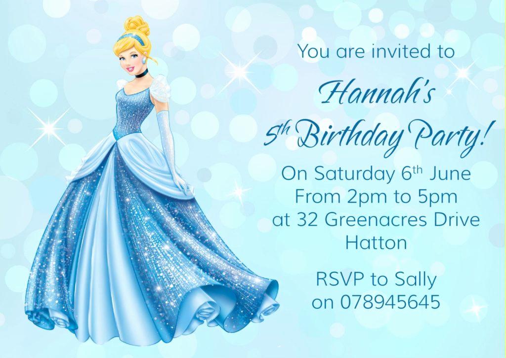 Cinderella Invitation Template Free Elegant Cinderella Birthday Invitation Wording
