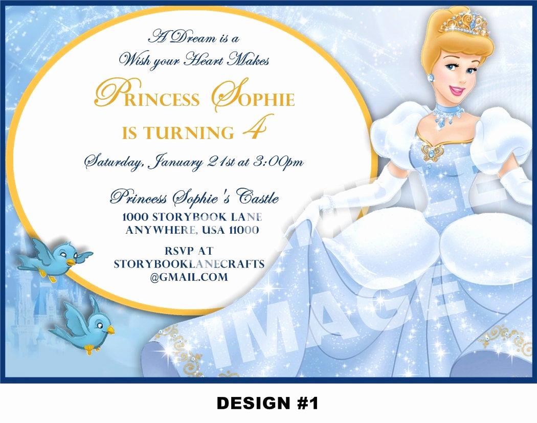 Cinderella Invitation Template Free Elegant Cinderella Invitation Disney Princess Birthday Party