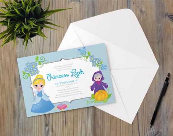 Cinderella Invitation Template Free Inspirational 13 Amazing Cinderella Invitation Templates & Designs
