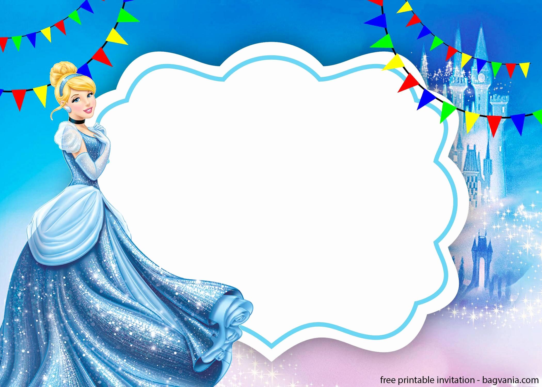Cinderella Invitation Template Free Inspirational Free Printable Cinderella Invitation Template