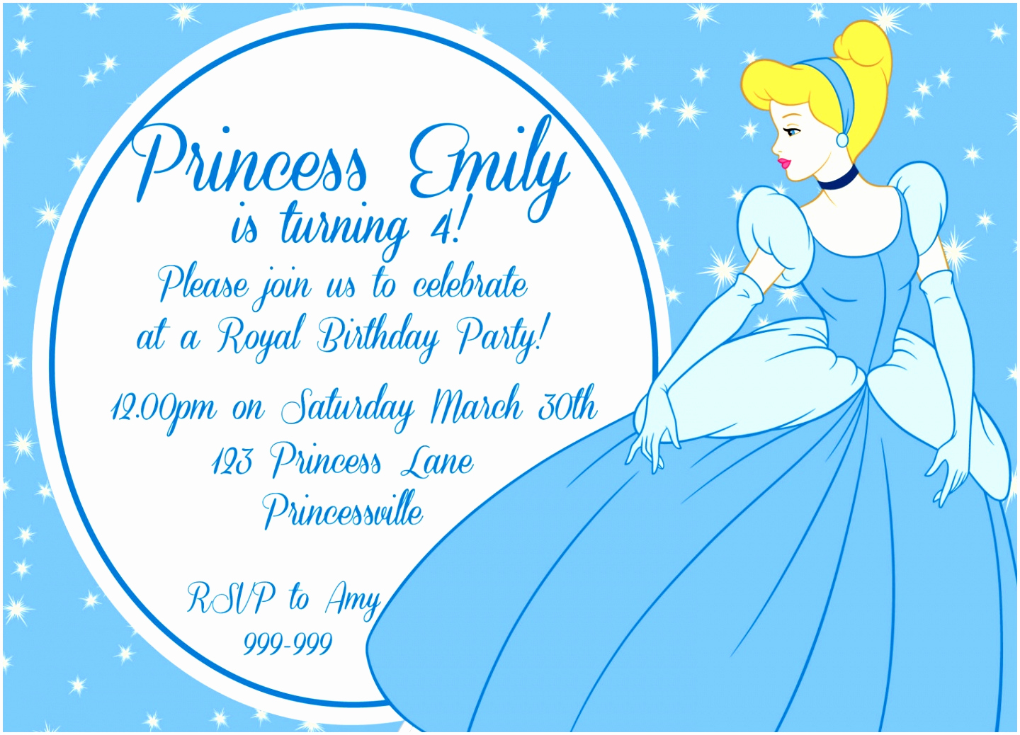 Cinderella Invitation Template Free Lovely 9 Cinderella Invitation Template Pwato