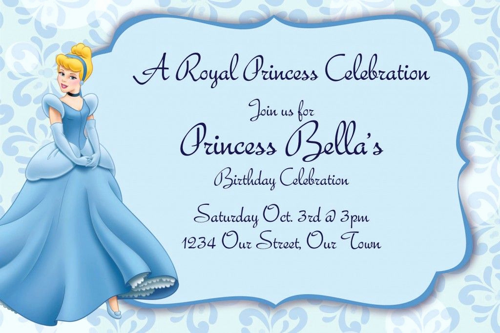 Cinderella Invitation Template Free Lovely Cinderella Invitations Birthday