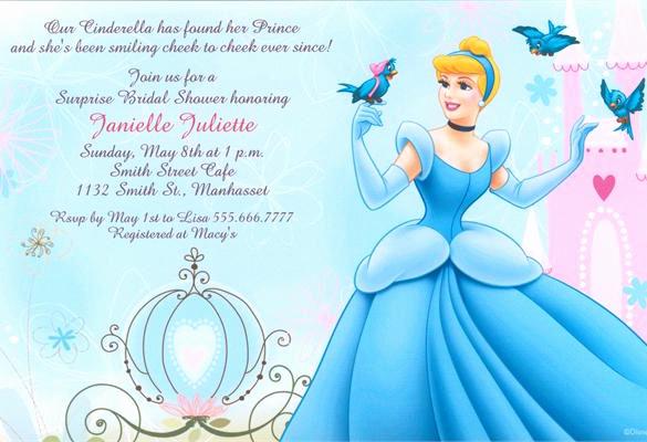Cinderella Invitation Template Free Luxury 13 Amazing Cinderella Invitation Templates & Designs