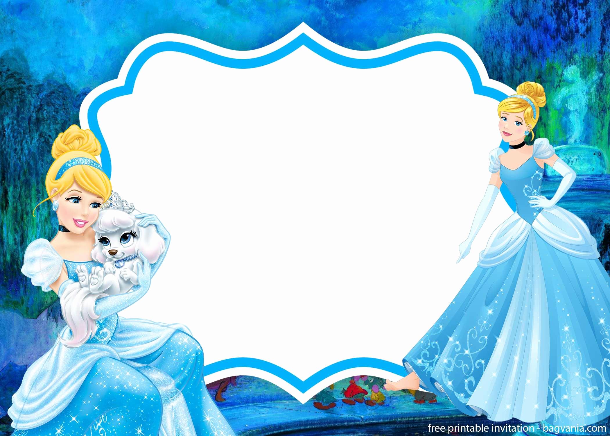 Cinderella Invitation Template Free Luxury Free Printable Cinderella Invitation Template – Free