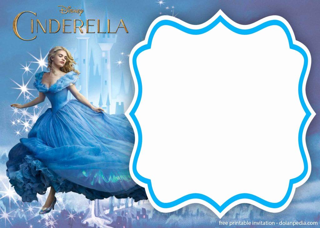 Cinderella Invitation Template Free Luxury Free Printable Cinderella Royal Invitation Templates