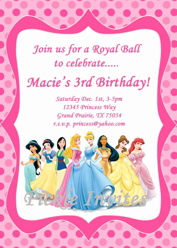 Cinderella Invitation Template Free Luxury Items Similar to Cinderella Princess Invitation and Thank