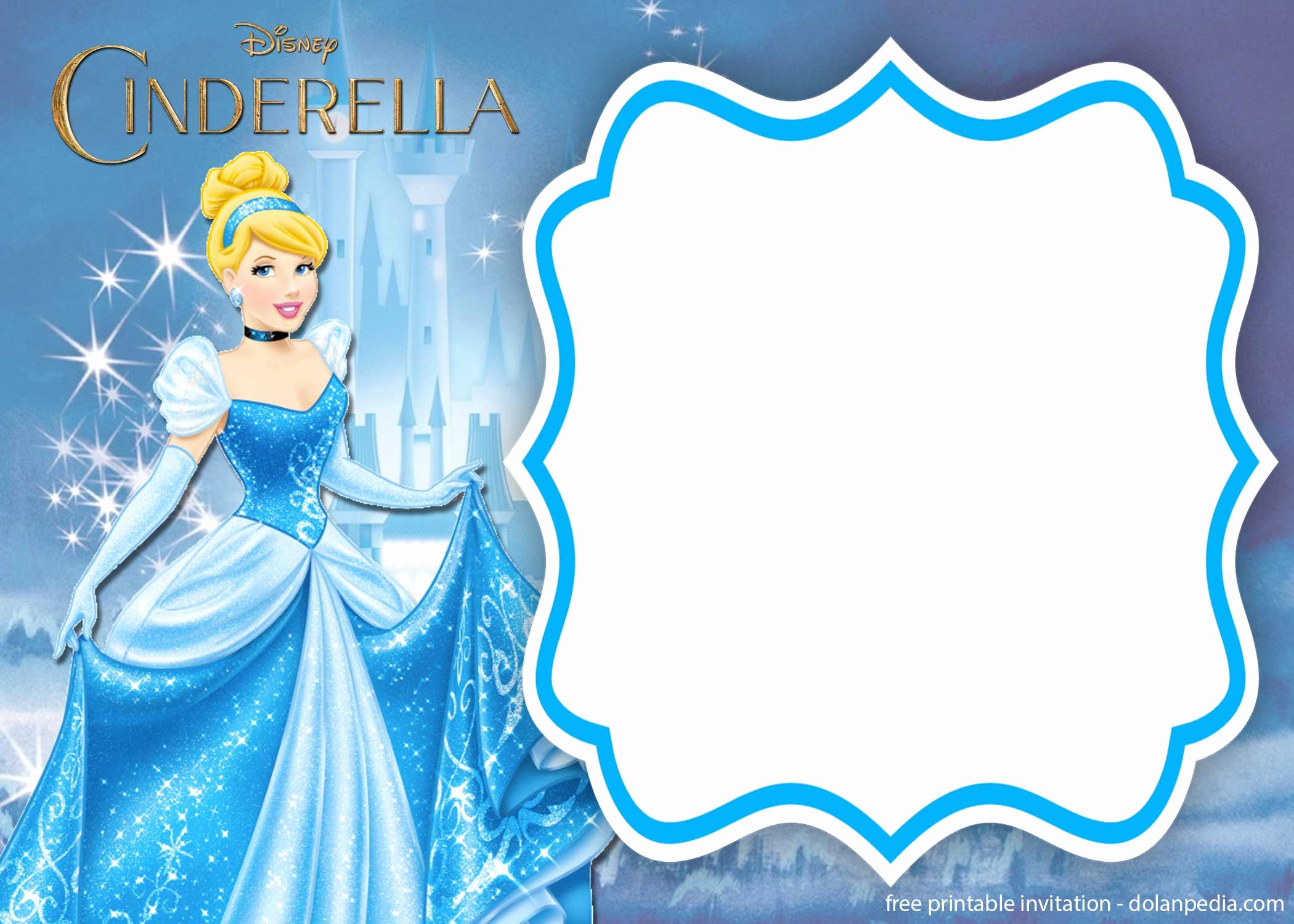 Cinderella Invitation Template Free New Free Printable Cinderella Royal Invitation Templates