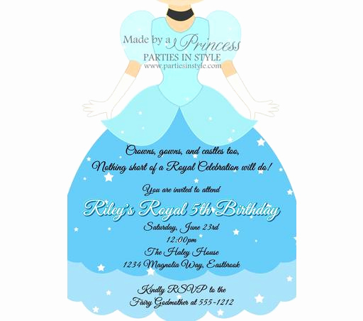 Cinderella Invitation Template Free New Staples Birthday Invitations