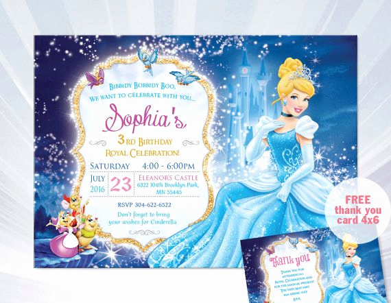 Cinderella Invitation Template Free Unique 9 Best Emma S 3rd Birthday Images On Pinterest