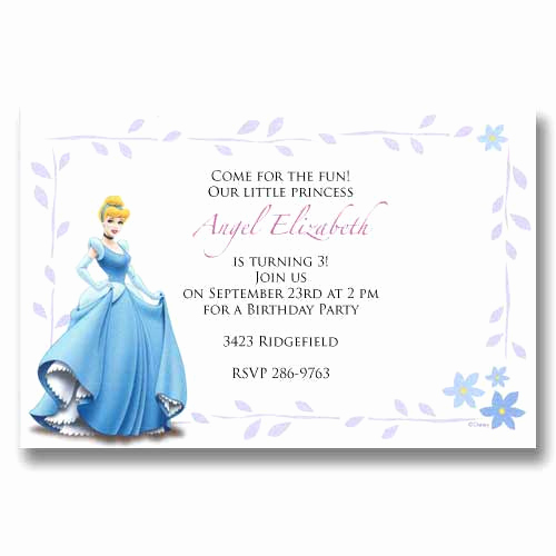 Cinderella Invitation to the Ball Best Of Disney Cinderella Baby Birthday Invitations