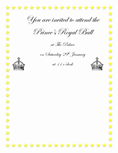 Cinderella Invitation to the Ball Elegant Cinderella Royal Ball Invitation by Graceteach