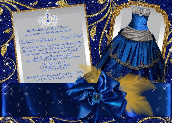 Cinderella Invitation to the Ball Lovely Royal Ball Invitation Princess Party Invitations Cinderella