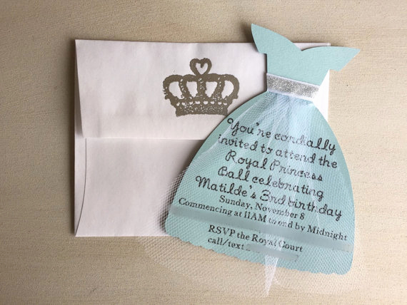 princess invitation princess invites