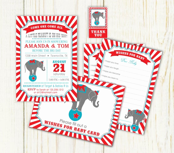 Circus Baby Shower Invitation Elegant Items Similar to Circus Baby Shower Invitation Well