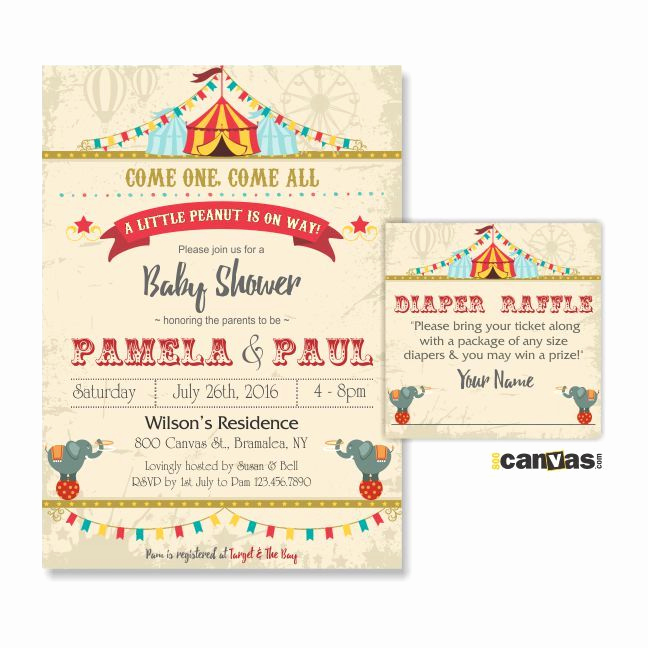 Circus Baby Shower Invitation Inspirational 25 Best Ideas About Circus Baby Showers On Pinterest
