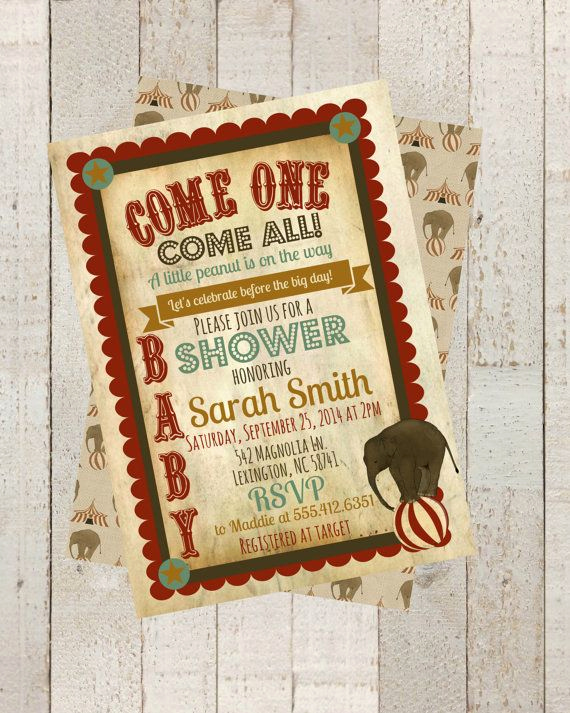Circus Baby Shower Invitation Luxury Best 25 Circus Baby Showers Ideas On Pinterest