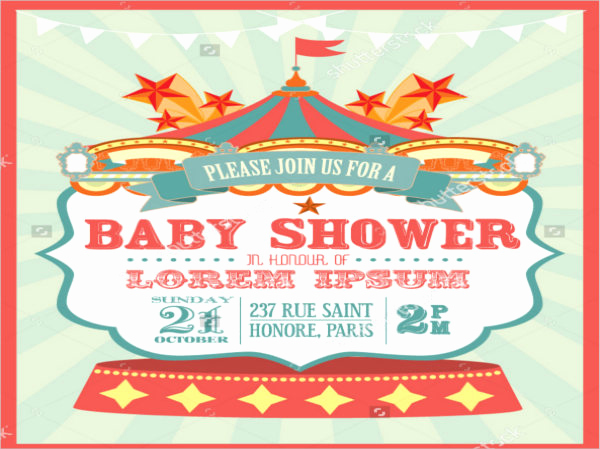 Circus Baby Shower Invitation Unique 9 Circus Invitation Templates Free Editable Psd Ai