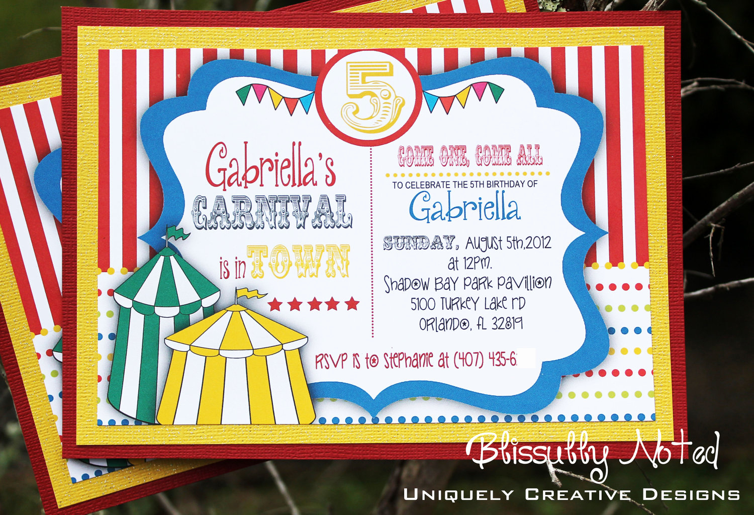 Circus Invitation Template Free Awesome Carnival Circus Invitations Digital File On Luulla