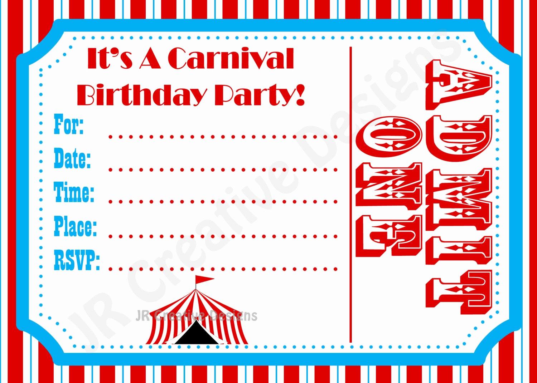 Circus Invitation Template Free Beautiful Carnival Invite Circus Invite Circus by Jrcreativedesigns