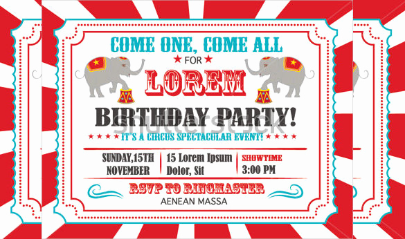 Circus Invitation Template Free Best Of 37 Carnival Birthday Invitation Templates Free Sample