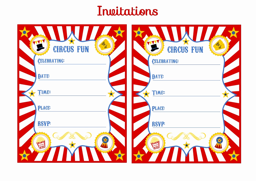 Circus Invitation Template Free Best Of Carnival Tickets Template Free Printable