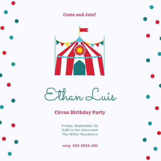 Circus Invitation Template Free Best Of Customize 28 Circus Invitation Templates Online Canva