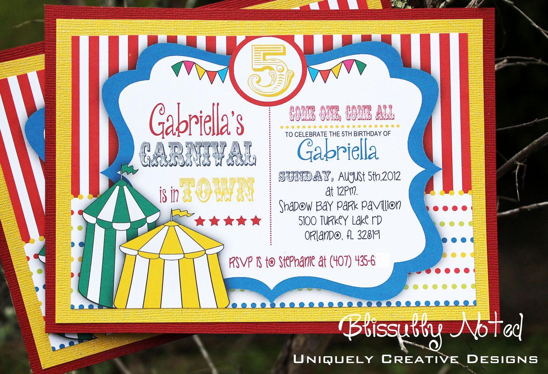 Circus Invitation Template Free Elegant Circus Invitation Template