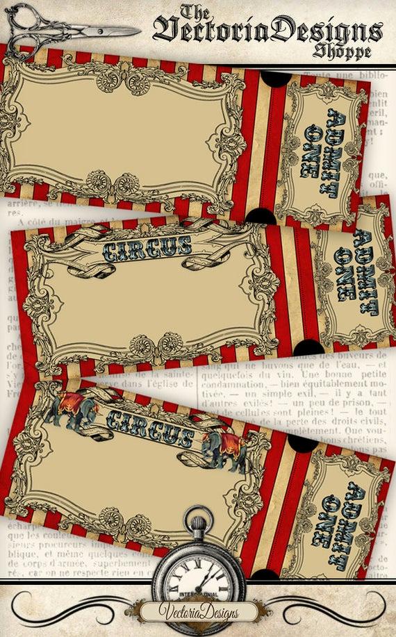 Circus Invitation Template Free Elegant Circus Invitation Tickets Circus Party Printable Paper