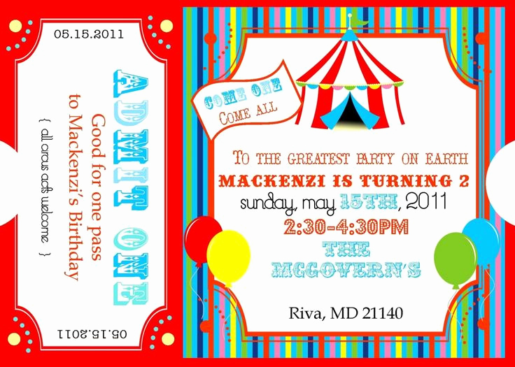 Circus Invitation Template Free Inspirational Best 25 Carnival Party Invitations Ideas On Pinterest