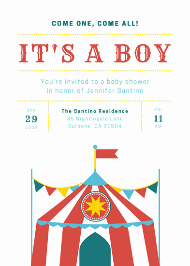Circus Invitation Template Free Inspirational Circus Invitation Templates Canva