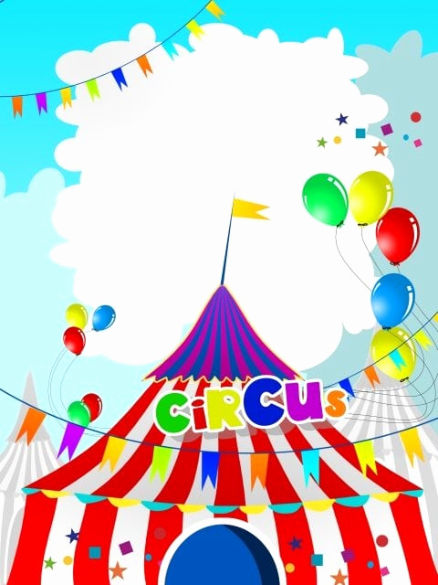 Circus Invitation Template Free New Carnival Birthday Party