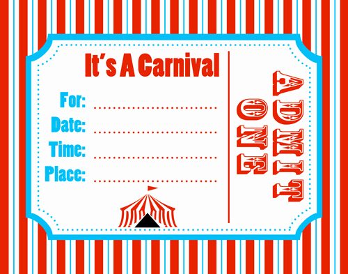 Circus Ticket Invitation Template Free Awesome Free Carnival Ticket Template Download Free Clip Art