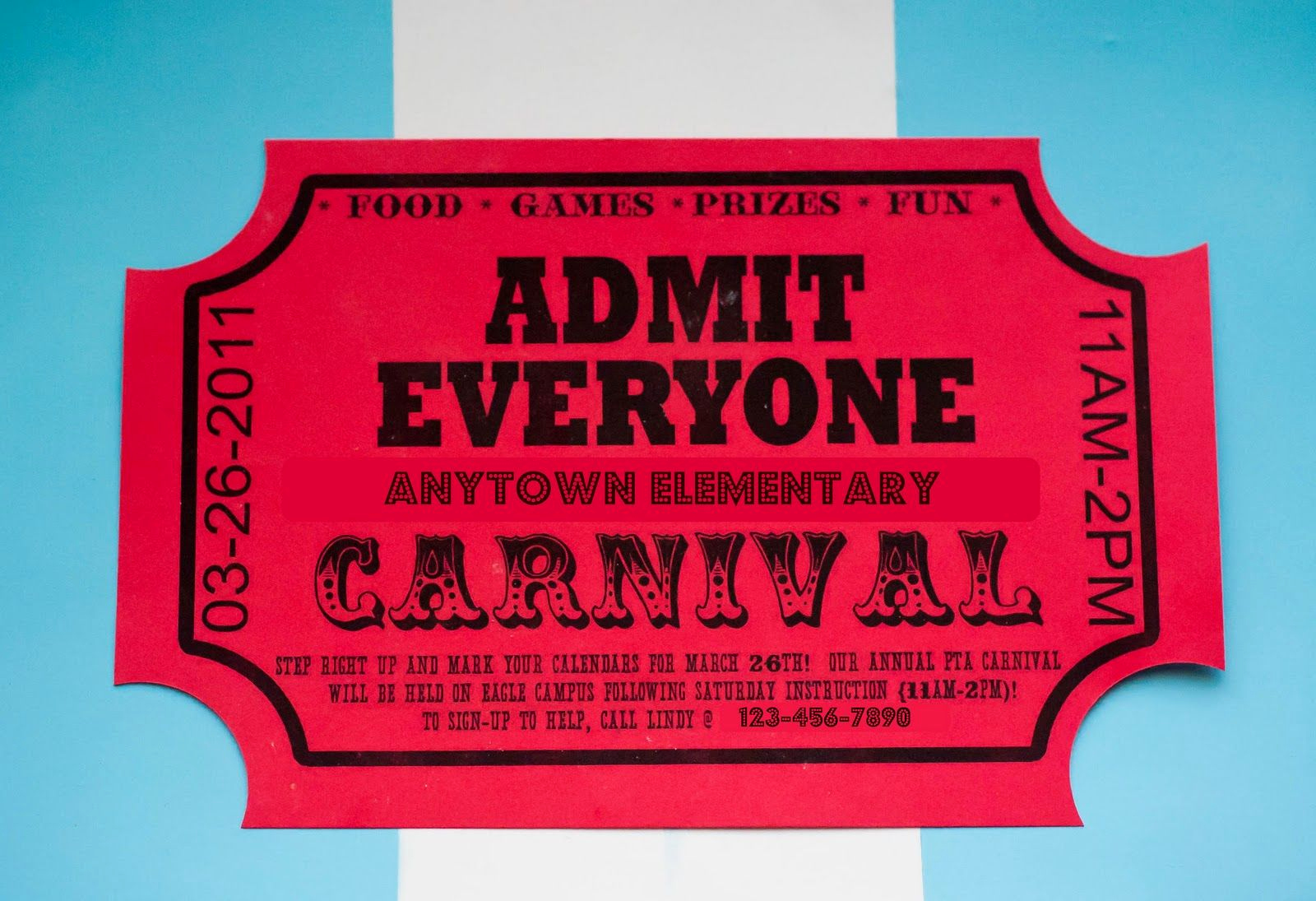 Circus Ticket Invitation Template Free Awesome Free Printable Carnival Ticket Invitations